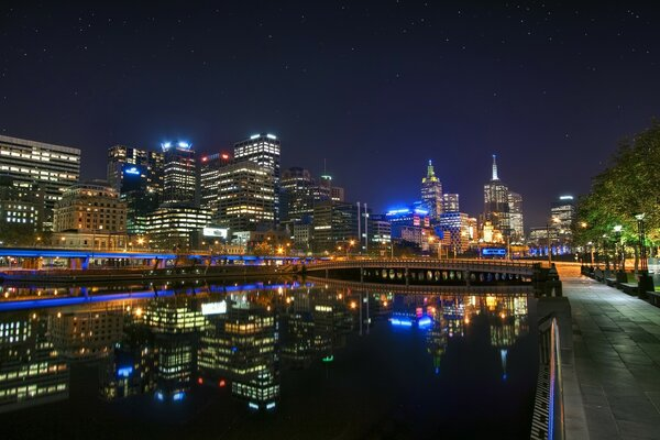 Melbourne Night Landscape