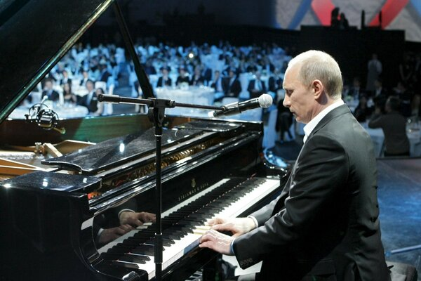 Vladimir Putin Playing Piano