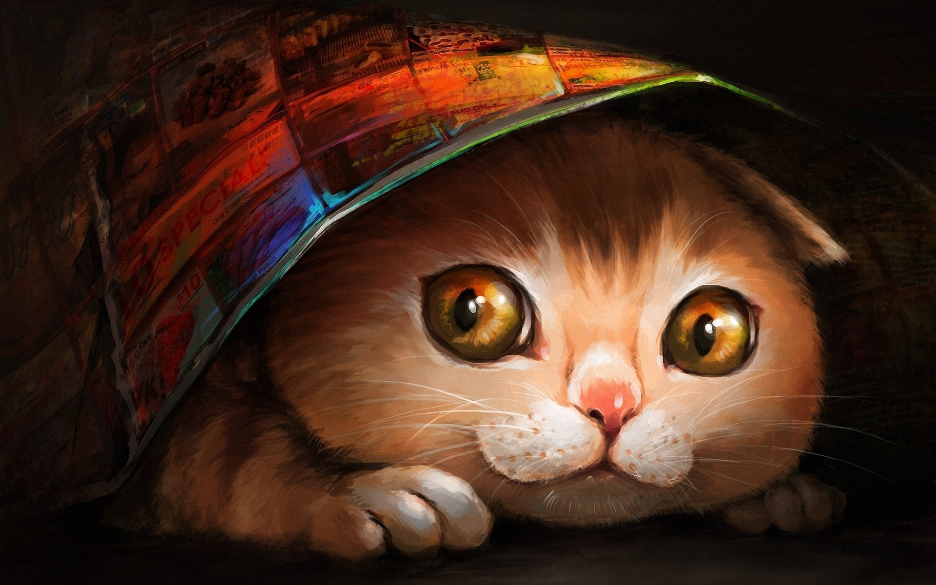 Lovely Cat Painting Iphone Wallpapers For Free