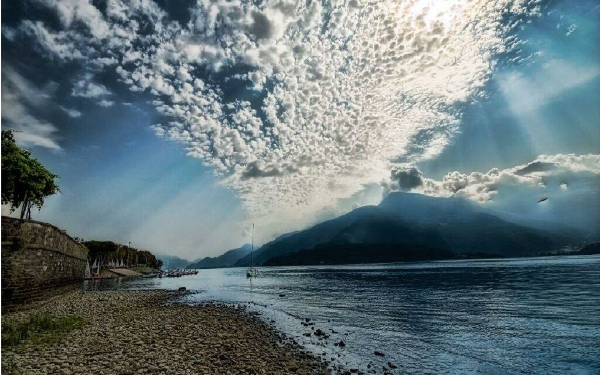 italy water travel landscape sky seashore ocean nature sea beach outdoors mountain scenic tourism