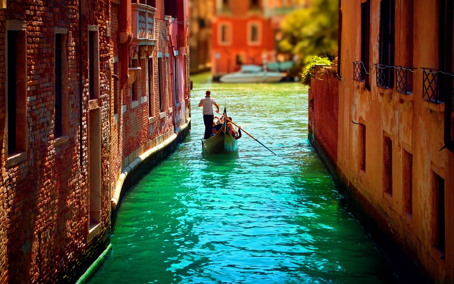 italy gondola canal water travel venetian architecture gondolier boat street city lagoon outdoors reflection old river bridge building hdr landscape
