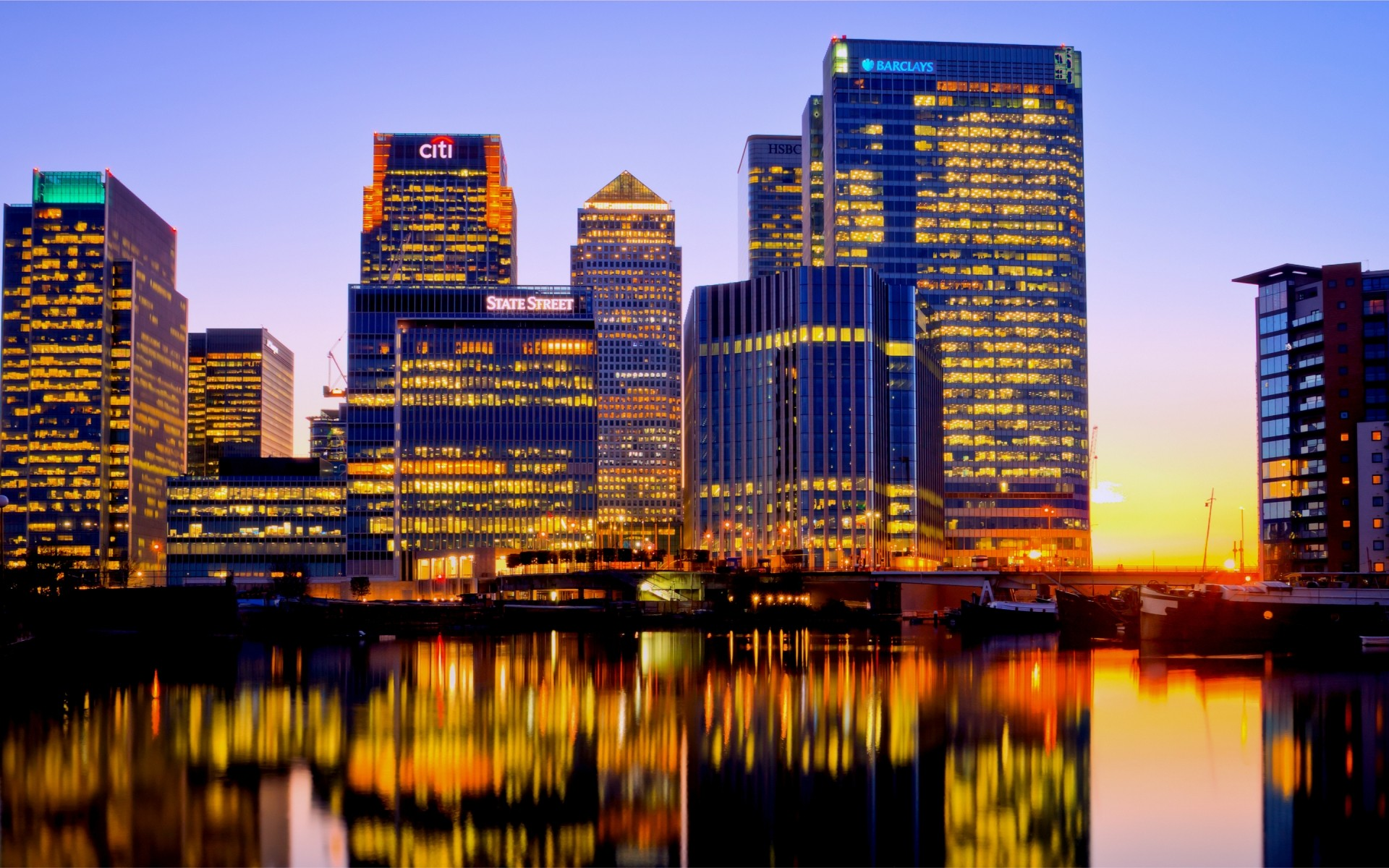 London Canary Wharf Android Wallpapers