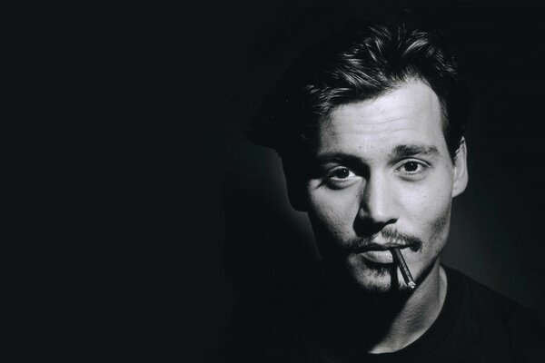 Male actor johnny Depp johnny depp photography black and
