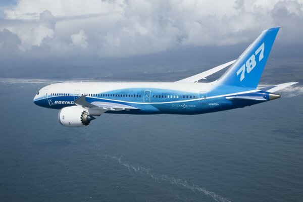 Boeing 787 Flying