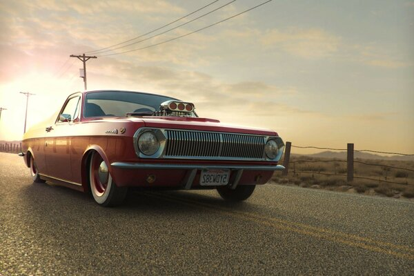 GAZ 24 Volga pickup sunset tuning