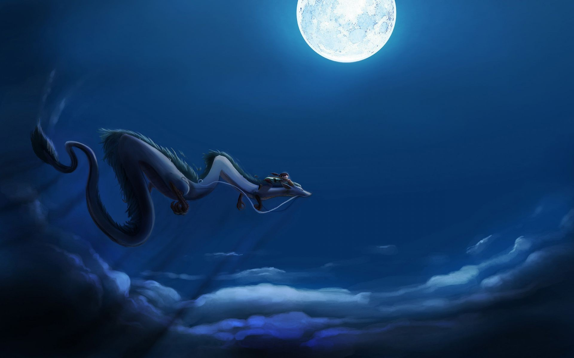 Dragon Moon Spirited Away Flight Android Wallpapers For Free