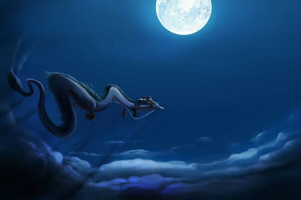dragon moon Spirited away spirited away flight