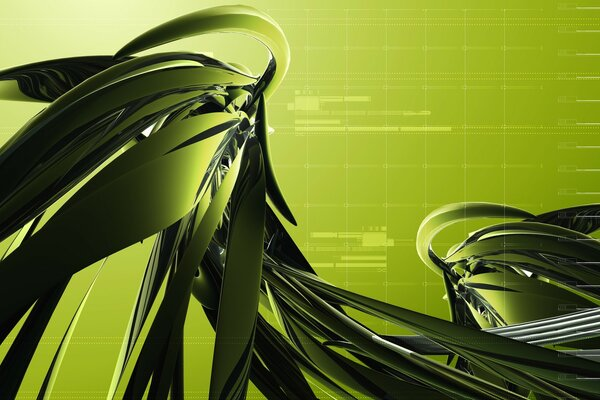 Dark Green Abstract Design