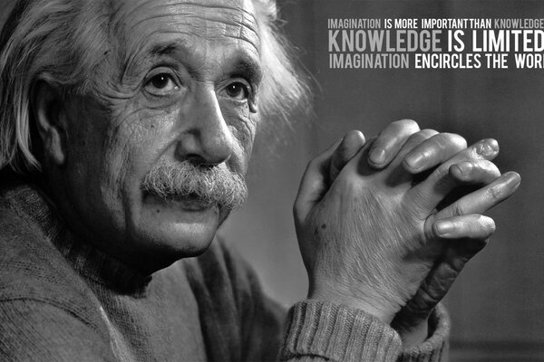 Albert Einstein Black & White