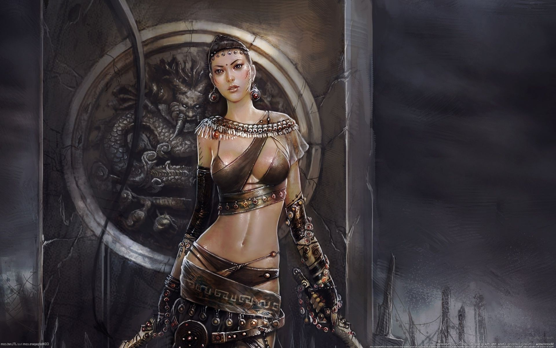 the monolith swords girl warrior jewelry huang dahong. android