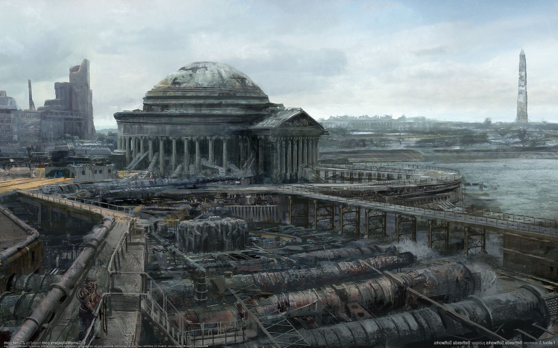 Fallout 3 ruins of a city