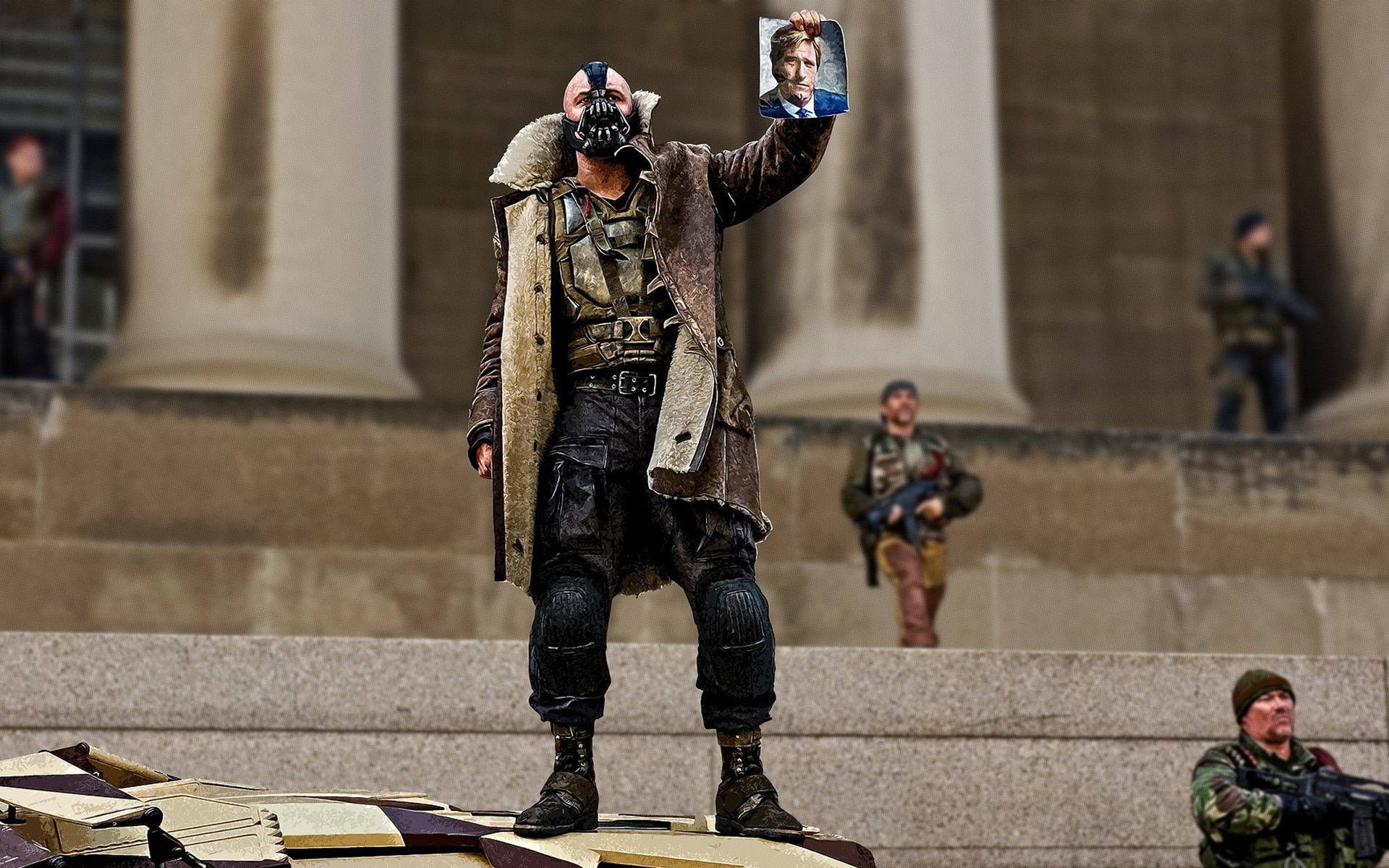 The Dark Knight Rises Bane Android Wallpapers For Free