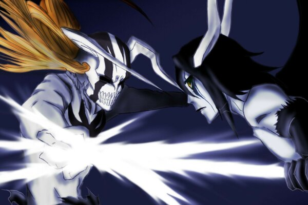 hollow ichigo ulquiorra battle the arrancar Anime bleach