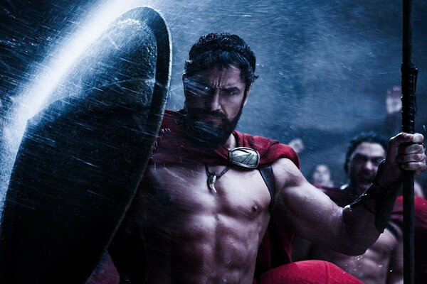 Gerard Butler 300 the movie Spartans wallpaper, the shield Wallpaper,