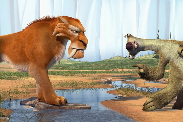 Ice Age Diego and Sid