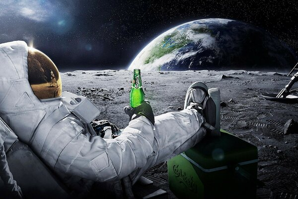 Carlsberg Beer in Space