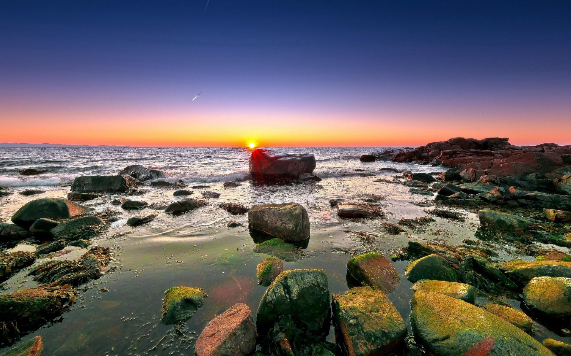 скала море солнце  № 673155 загрузить