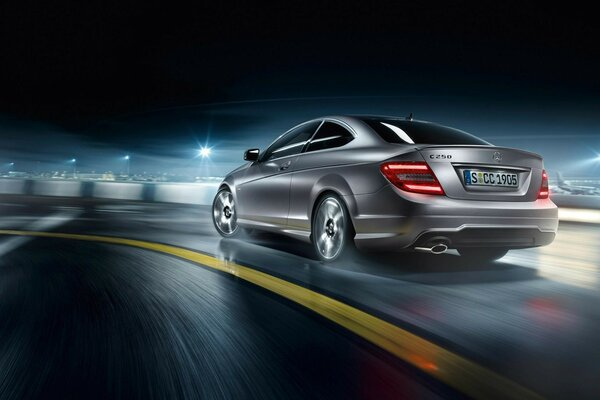 Rear of Mercedes C Class AMG 2013