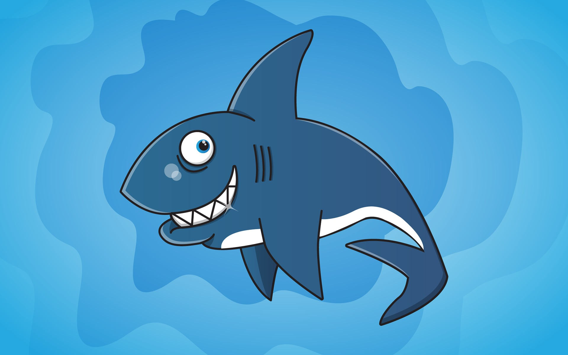 Smiling Shark - Android wallpapers