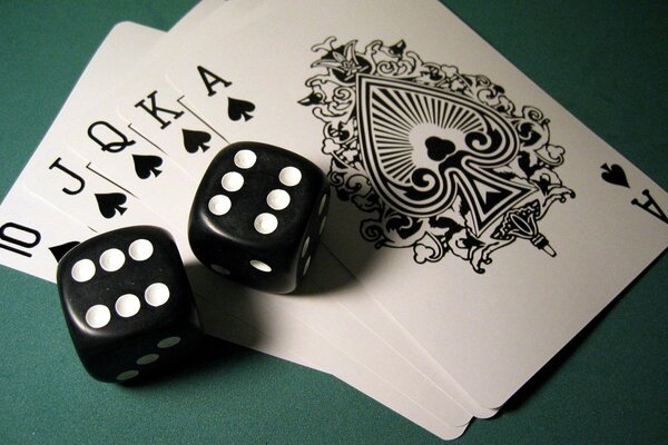 double dice Royal flush poker card combination peaks Pok