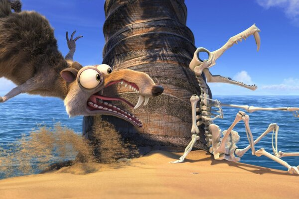 Scrat and Skeleton
