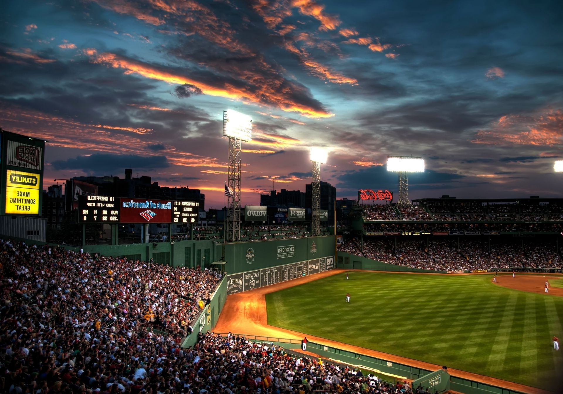 Fenway Park Boston Cloud People Beysball Baseball Android Wallpapers For Free