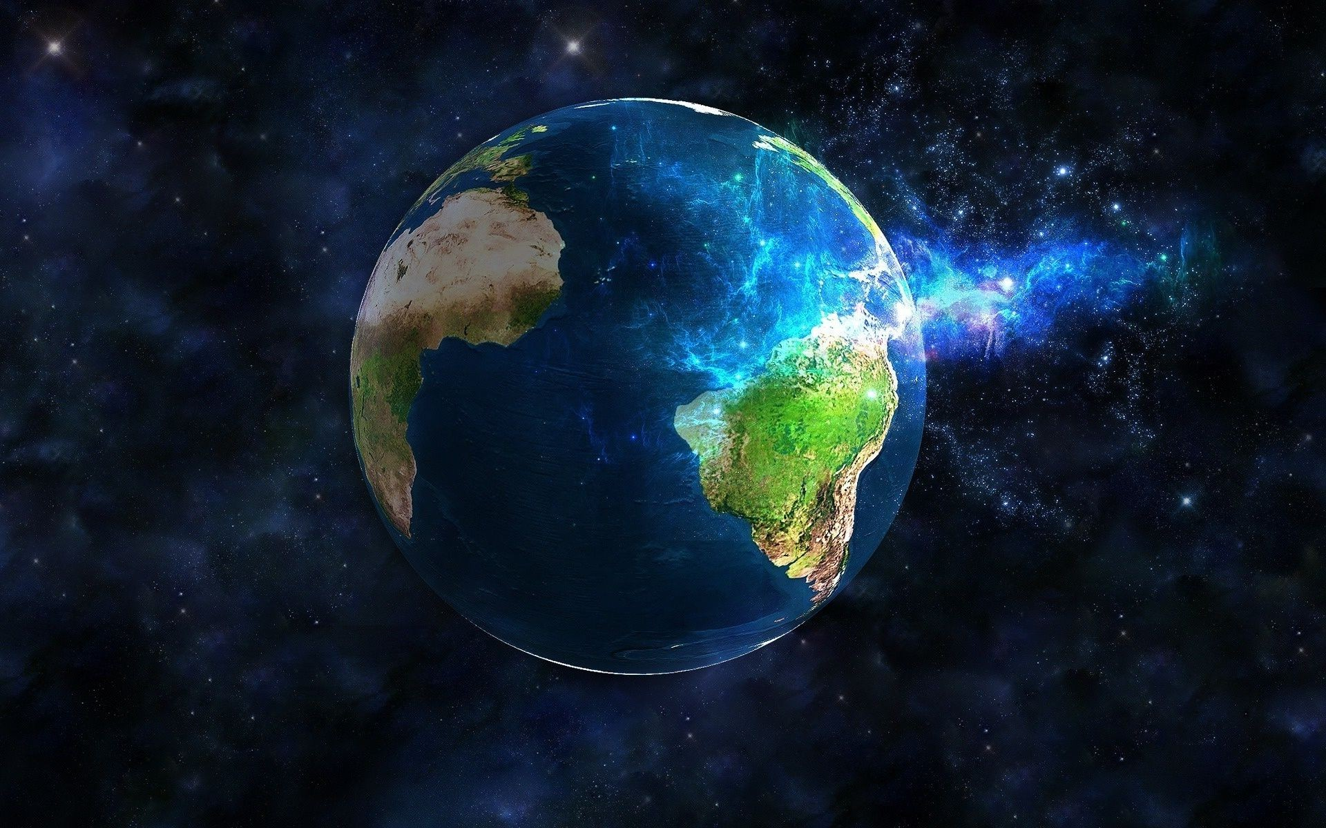 Graphics space planet Earth globe. Android wallpapers for