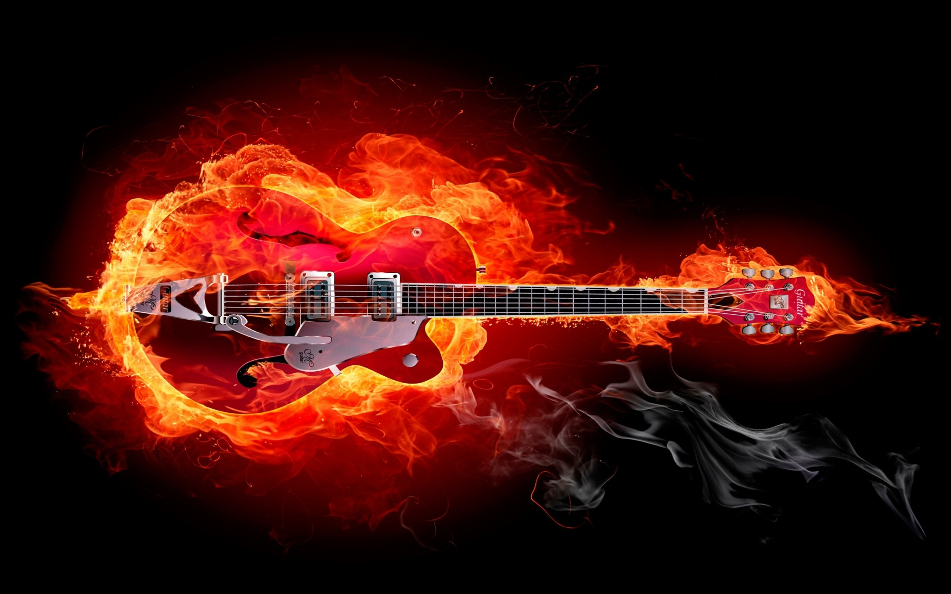 Fire Guitar Android Wallpapers