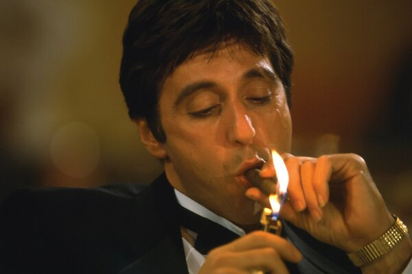 Tony Montana Smoking