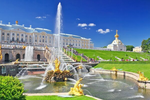 Peterhof Palace Fountain