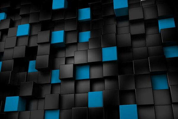 Black & Blue Cubes