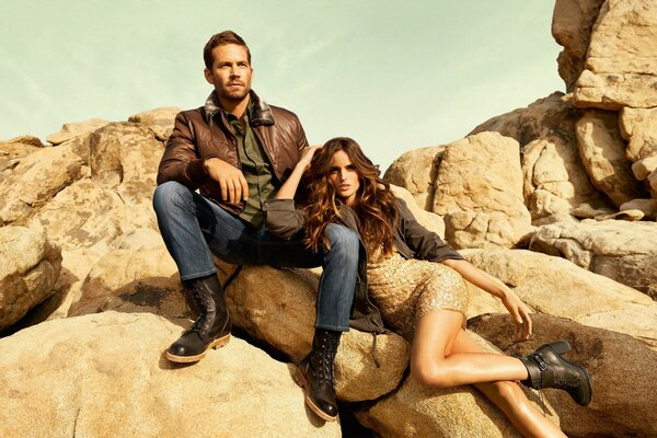 Paul Walker and Izabel Goulart