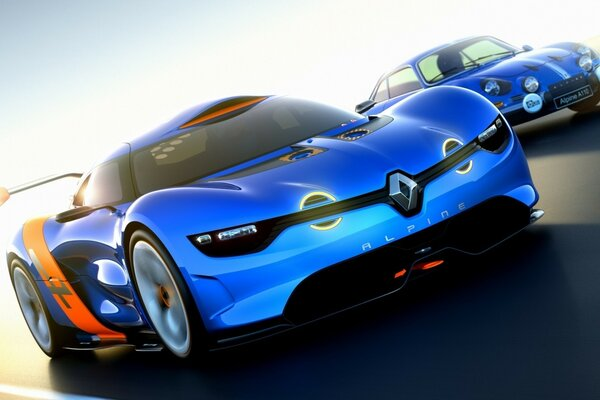 Blue Renault Alpine
