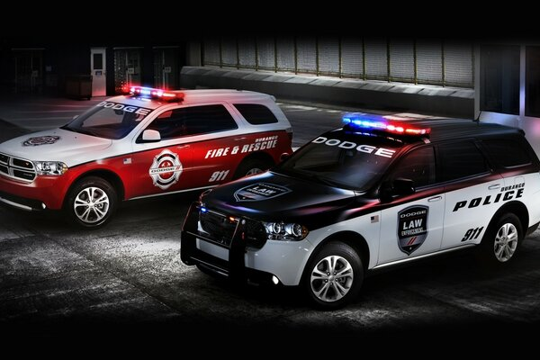 Dodge Police and Fire Cars