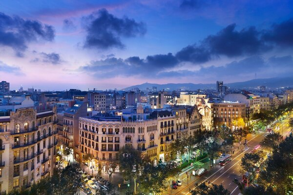 Night in Barcelona