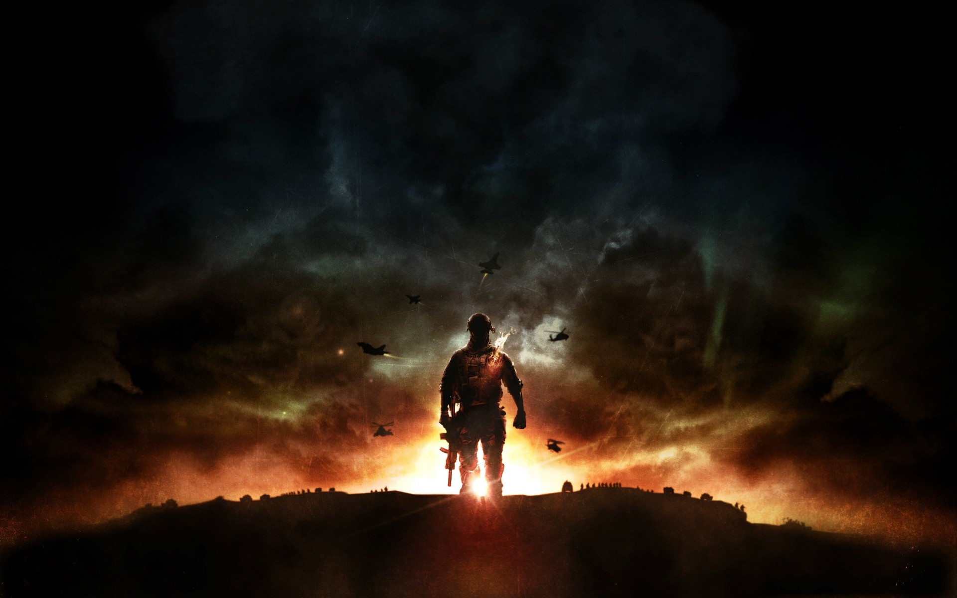 battlefield sunset flame smoke dawn dusk silhouette evening man outdoors fog light sky battlefield 4