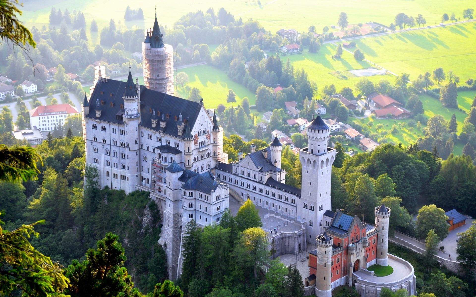 germany architecture travel building old castle church town city sight hill tree tower summer tourism house landscape sky gothic outdoors mountains
