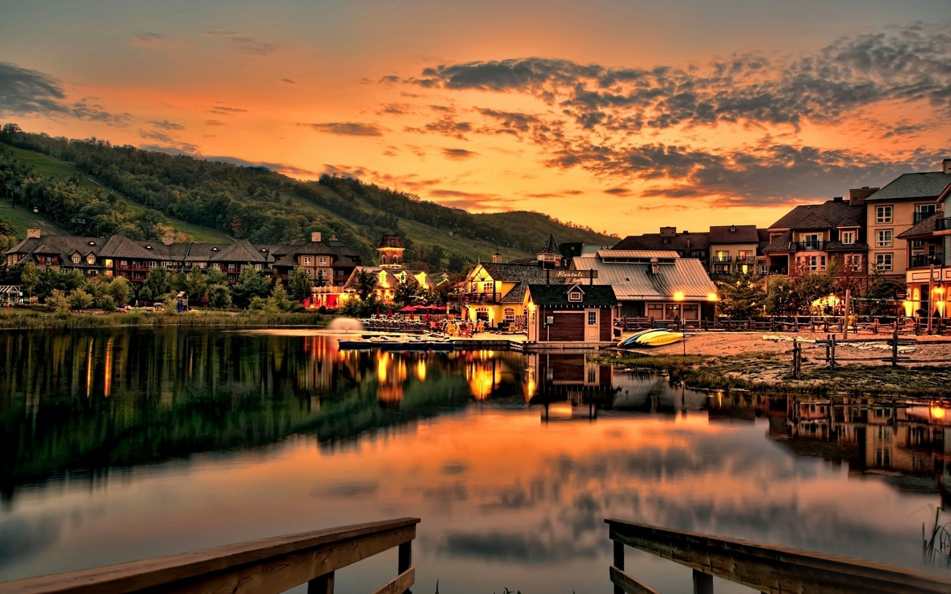 landscapes water reflection travel sunset lake city river architecture dawn sea boat evening sky outdoors town building house dusk seashore landscape clouds