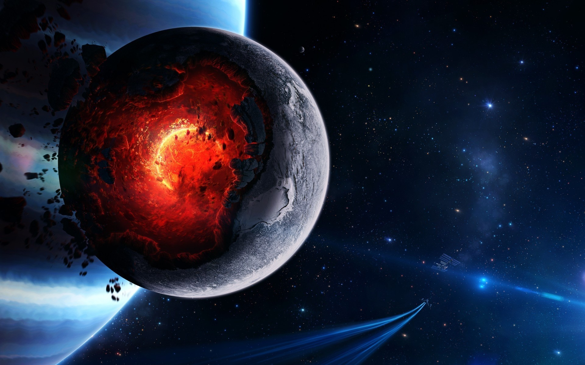 Space Planet Disaster Android Wallpapers For Free