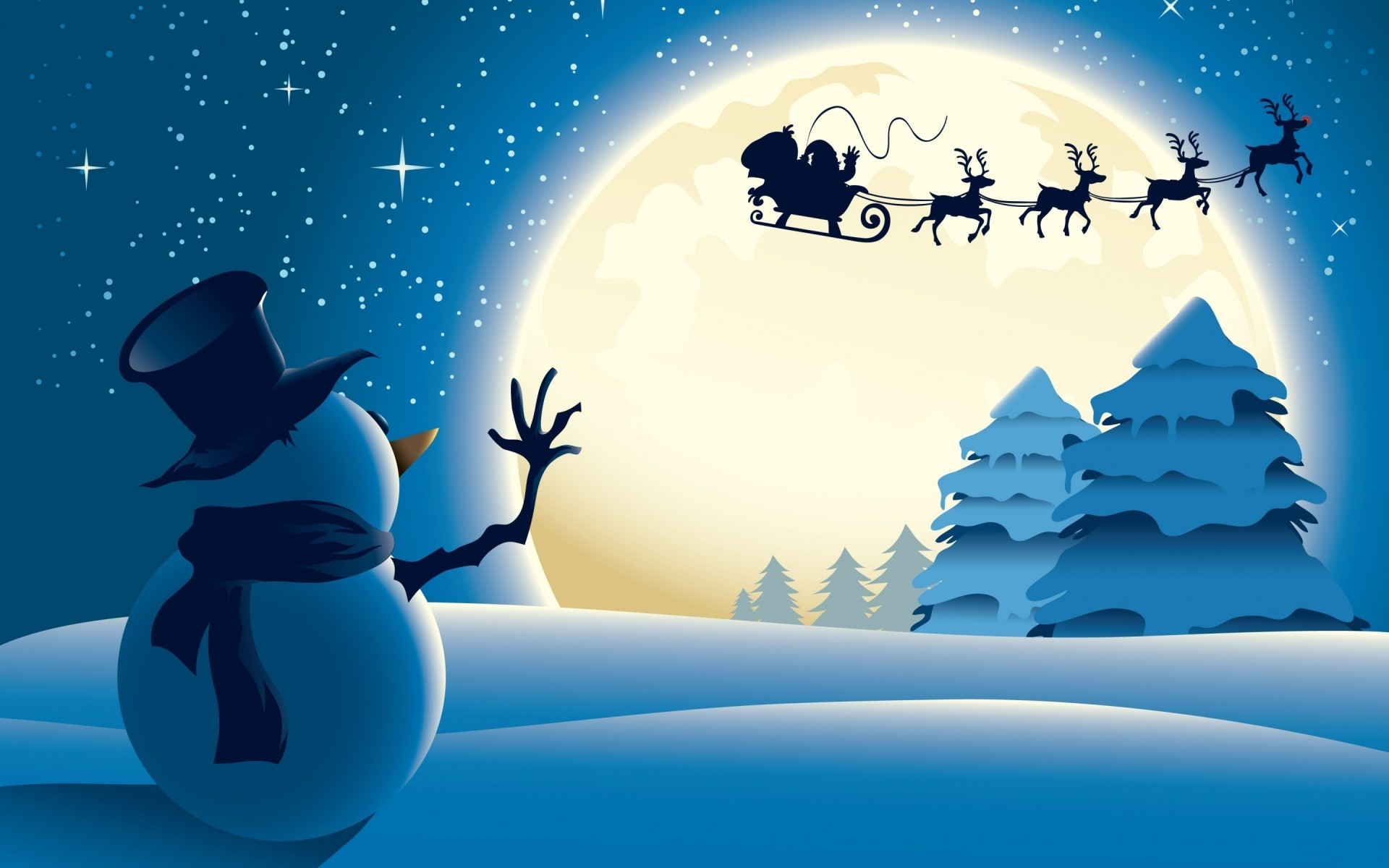 Cute Little Snowman Android Wallpapers