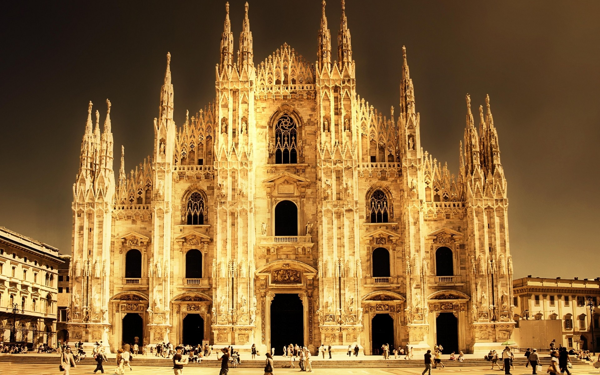 italy architecture travel cathedral church building city outdoors religion sky gothic tower ancient tourism old monument landmark milan milan cathedral