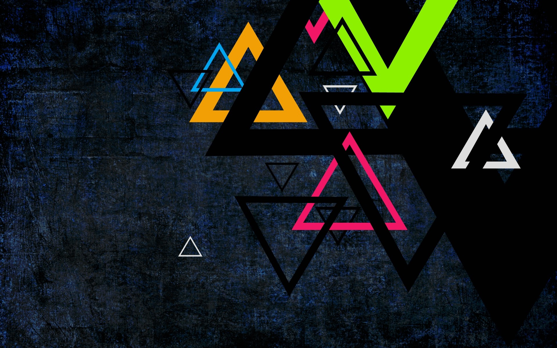 Colorful Triangles - Phone wallpapers