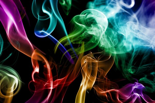 smoke colours the Smoke colored abstraction creative