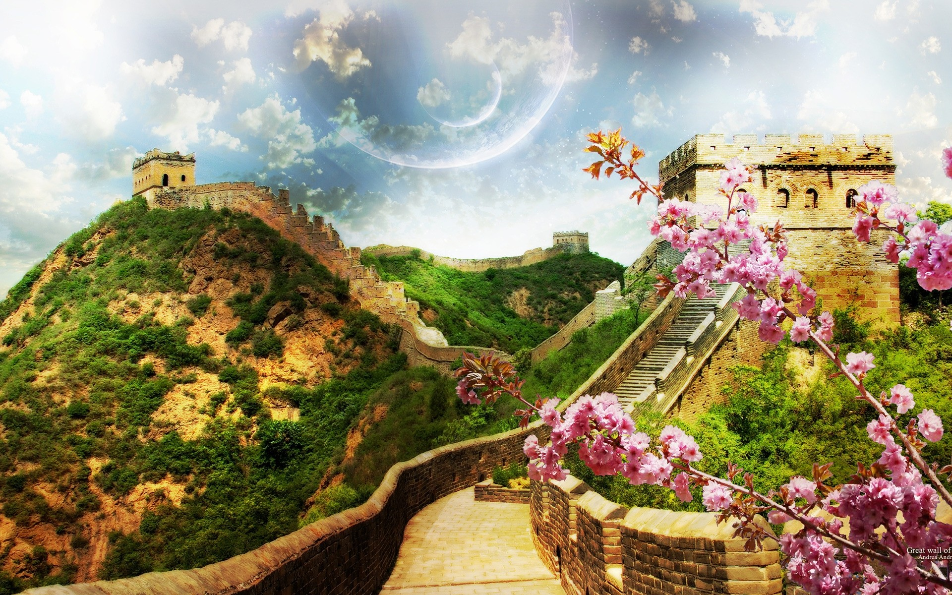 china architecture travel building tourism castle hill sky landmark landscape old ancient scenic town outdoors sight tree fortress nature mountain cherry blossom