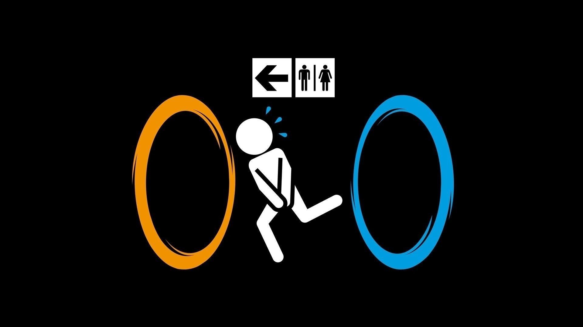 Portal 2 Toilet Humor Portal Phone Wallpapers