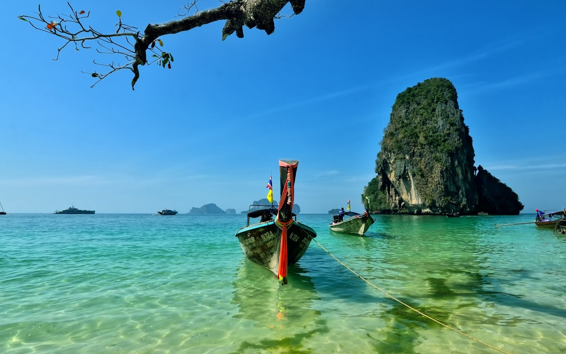 other city water travel beach tropical island ocean seashore sea summer turquoise vacation recreation sand bay exotic sky lagoon idyllic nature railay beach krabi town thailand landscape
