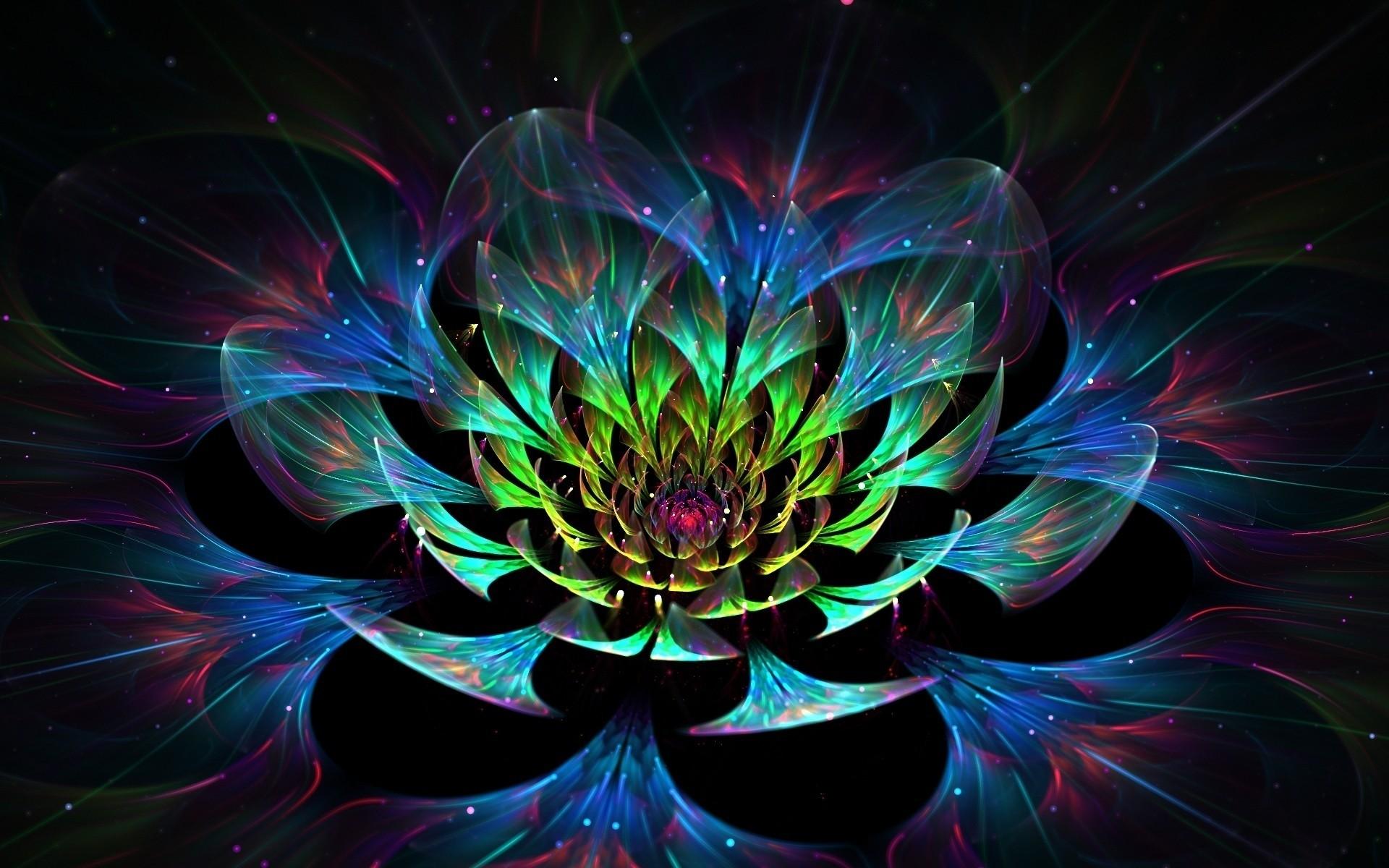 3d Lotus Flower Desktop Wallpapers For Free