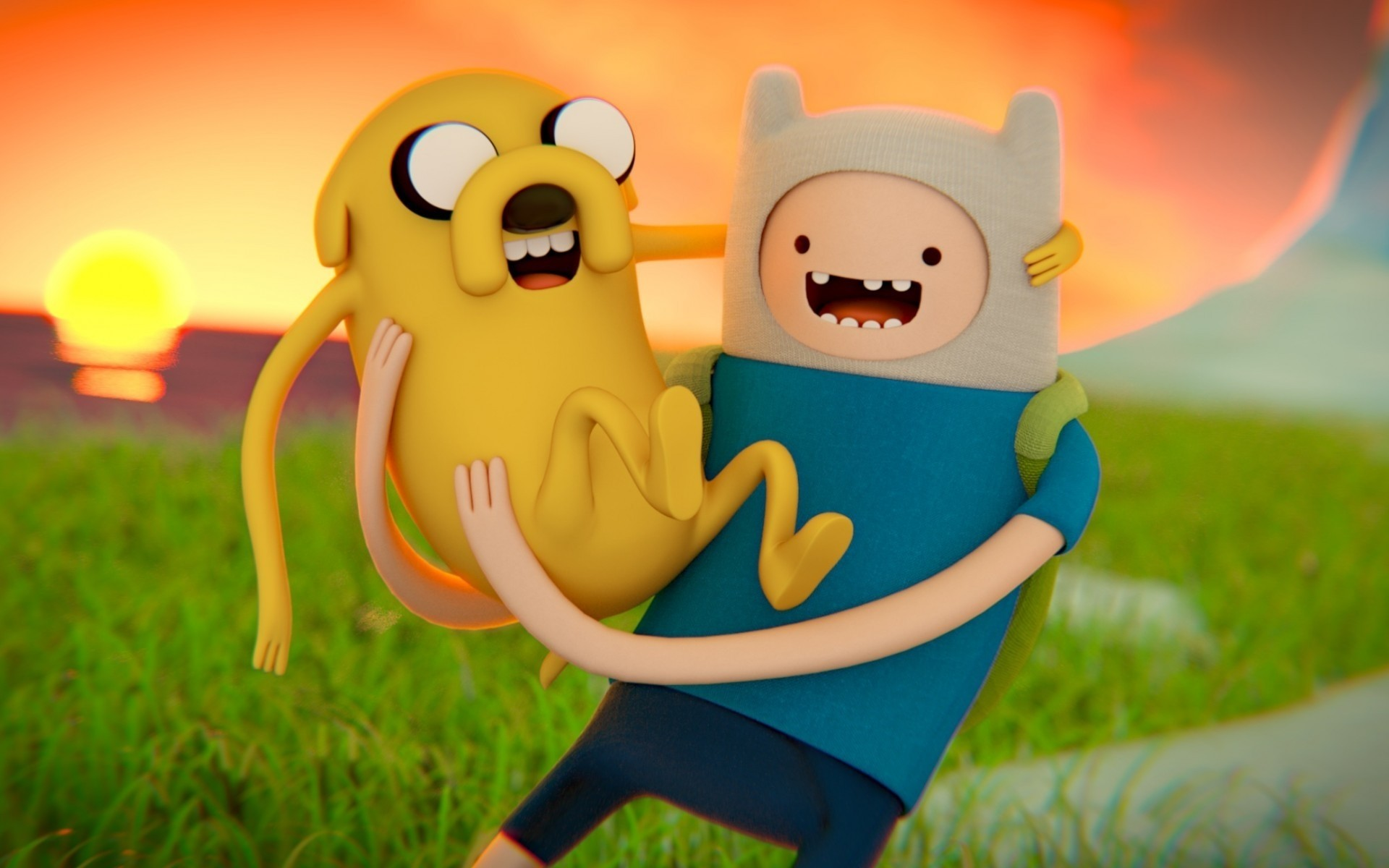 tv series grass fun toy nature cute child smile adventure time