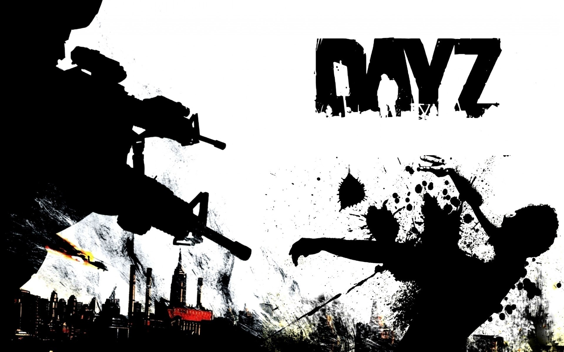 other games man silhouette action adult dayz