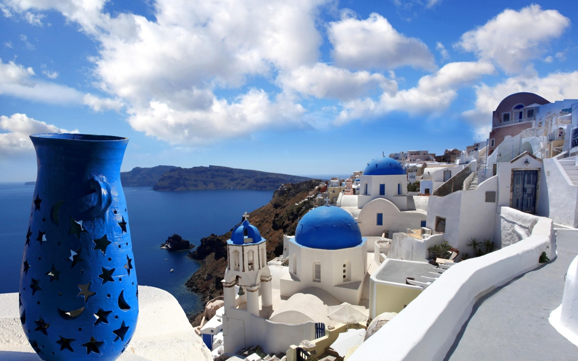 greece sea travel sky water architecture seashore vacation ocean outdoors summer traditional tourism santorini landscape exotic honeymoon